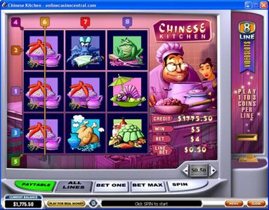 Carnival featuring the Video Slots Chinese Kitchen with a maximum payout of $60,000