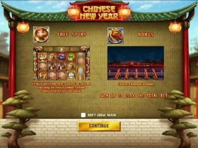 Play slots at Intercasino: Intercasino featuring the Video Slots Chinese New year with a maximum payout of $6,250