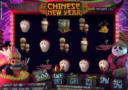 Play slots at Solara: Solara featuring the Video Slots Chinese New Year with a maximum payout of $3,750