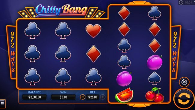 Campeon featuring the Video Slots Chitty Bang with a maximum payout of $10,000