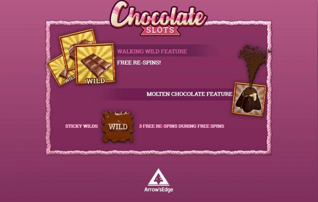 Gossip Slots featuring the Video Slots Chocolate Slots with a maximum payout of Jackpot