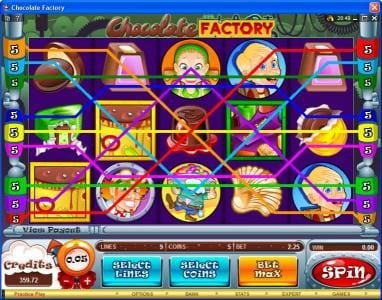 Wixstars featuring the Video Slots Chocolate Factory with a maximum payout of $20,000