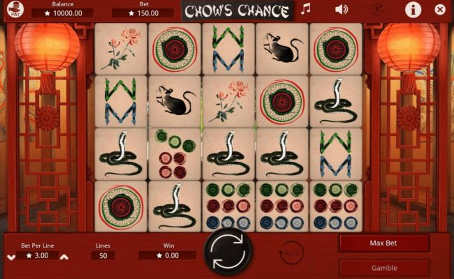 Argo featuring the Video Slots Chow's Chance with a maximum payout of $45,000