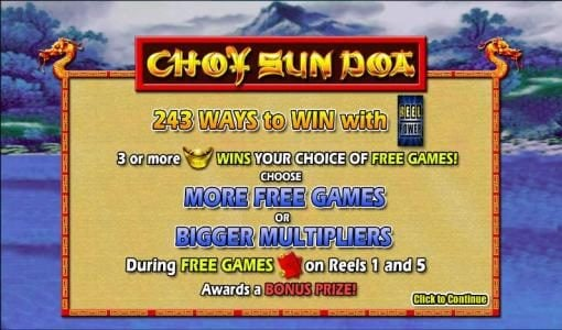 Play slots at Casino 765: Casino 765 featuring the Video Slots Choy Sun Doa with a maximum payout of $4,000
