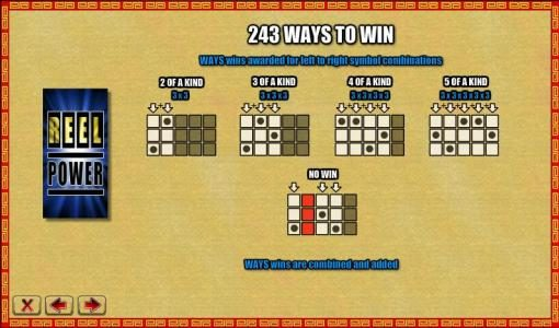 243 ways to win paylines