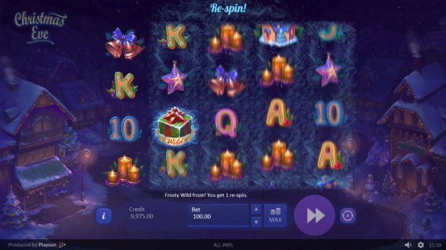 Lord of the Spins featuring the Video Slots Christmas Eve with a maximum payout of $28,600