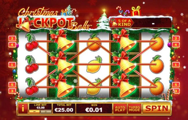 Euro Grand featuring the Video Slots Christmas Jackpot Bells with a maximum payout of $37,500