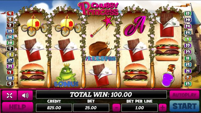 Play slots at Venetian: Venetian featuring the Video Slots Chubby Princess with a maximum payout of $40,000