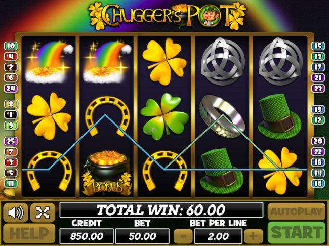 Play slots at Venetian: Venetian featuring the Video Slots Chugger's Pot with a maximum payout of $25,000