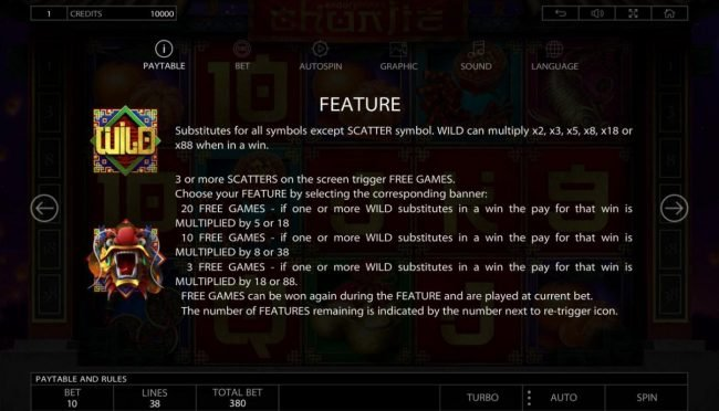 7Bit featuring the Video Slots Chunjie with a maximum payout of $337,440