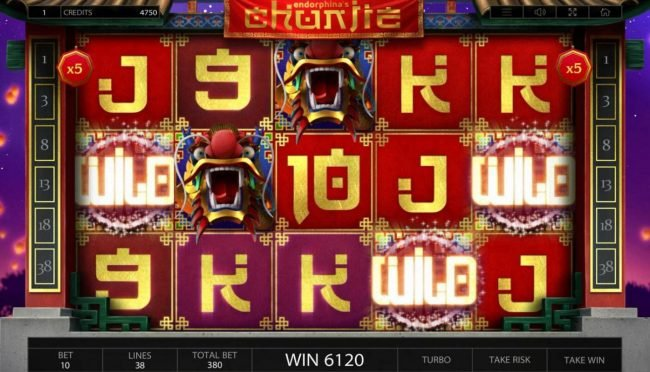 Betchain featuring the Video Slots Chunjie with a maximum payout of $337,440