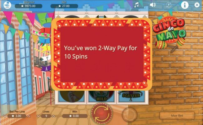 Cinco de Mayo :: 2-Way Pay feature activated for 10 spins