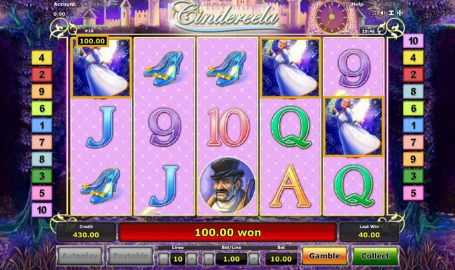 Cindereela :: Free Games can be re-triggered whenever player lands 3 or more scatters on the reels.
