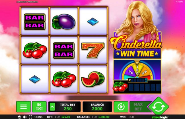 Cinderella Win Time :: Main Game Board
