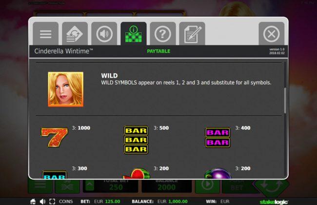 Cinderella Win Time :: Wild Symbol Rules