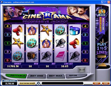 Play slots at William Hill Casino Club: William Hill Casino Club featuring the Video Slots Cinerama with a maximum payout of Jackpot