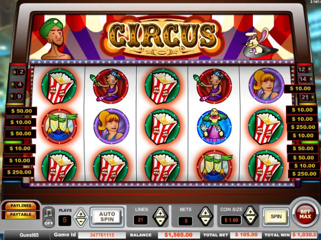 Circus :: Big win triggered by multiple winning paylines
