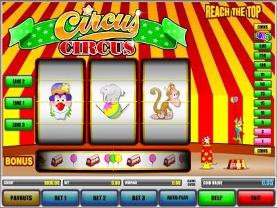 Long Harbour featuring the Video Slots Circus Circus with a maximum payout of $1,000