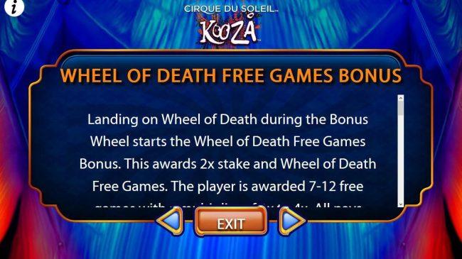 Wheel of Death Free Games Bonus Rules