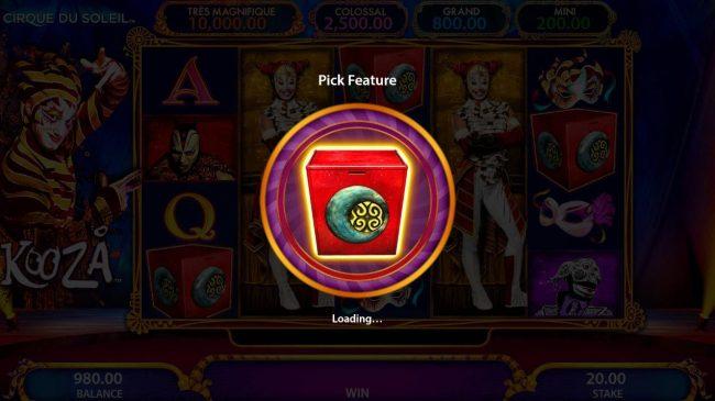 Box Bonus Feature triggered.
