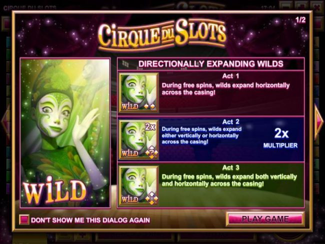 Play slots at Golden Lady: Golden Lady featuring the Video Slots Cirque du Slots with a maximum payout of $4,500