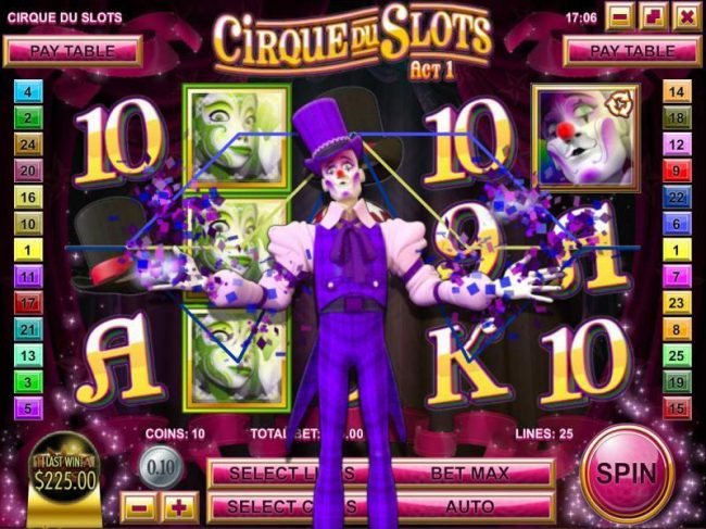 This Is Vegas featuring the Video Slots Cirque du Slots with a maximum payout of $4,500