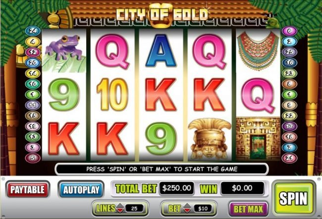 Play slots at Liberty Slots: Liberty Slots featuring the Video Slots City of Gold with a maximum payout of $60,000