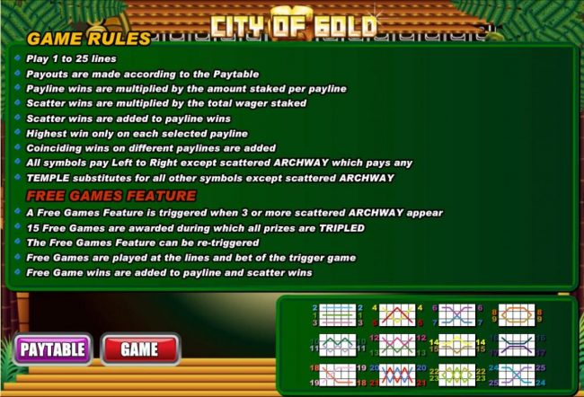 Red Stag featuring the Video Slots City of Gold with a maximum payout of $60,000