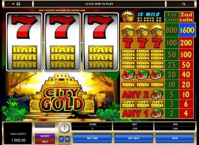 Mongoose Casino featuring the Video Slots City of Gold with a maximum payout of $16,000