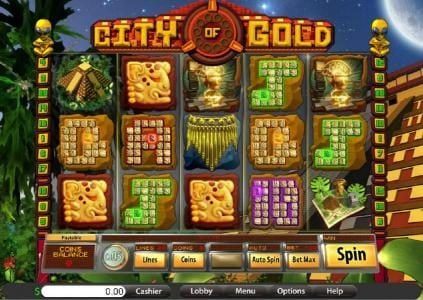 Jumba Bet featuring the Video Slots City of Gold with a maximum payout of $7,500