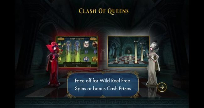 Face off for Wild Reel Free Spins or Bonus Cash Prizes.