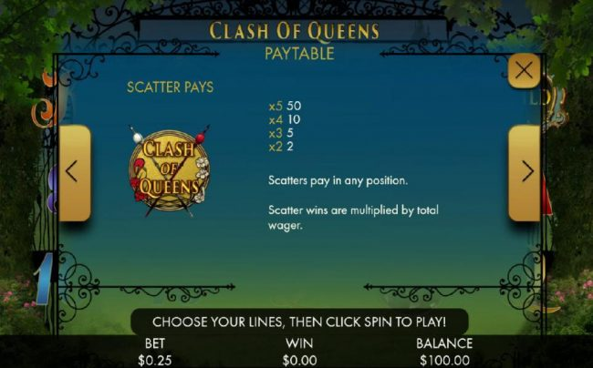 Betway featuring the Video Slots Clash of Queens with a maximum payout of $1,000,000
