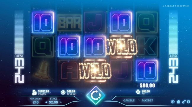 Intercasino featuring the Video Slots Classic 243 with a maximum payout of $40,000