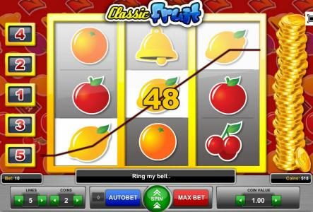 Play slots at Casino 765: Casino 765 featuring the Video Slots Classic Fruit with a maximum payout of $1,000