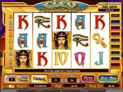 Play slots at Orientxpress: Orientxpress featuring the Video Slots Cleo Queen Of Egypt with a maximum payout of $20,000