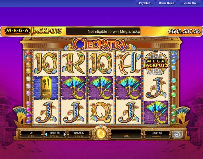 Cleopatra - Mega Jackpots :: Main Game Board