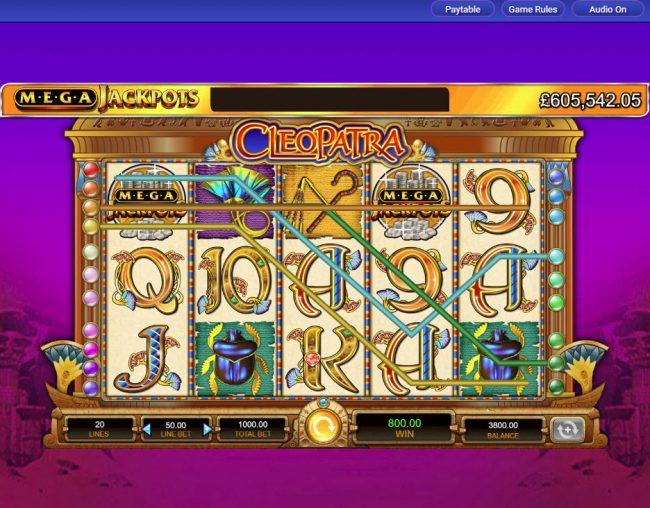 Cleopatra - Mega Jackpots :: Multiple winning paylines