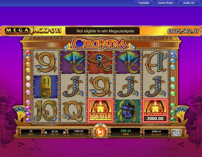Cleopatra - Mega Jackpots :: Scatter Win