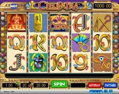 Play slots at Chomp: Chomp featuring the Video Slots Cleopatra with a maximum payout of $250,000