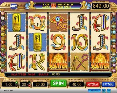 Cleopatra :: Cleopatra slot game scatter symbol jackpot win