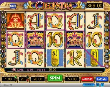 Casumo featuring the Video Slots Cleopatra with a maximum payout of $250,000