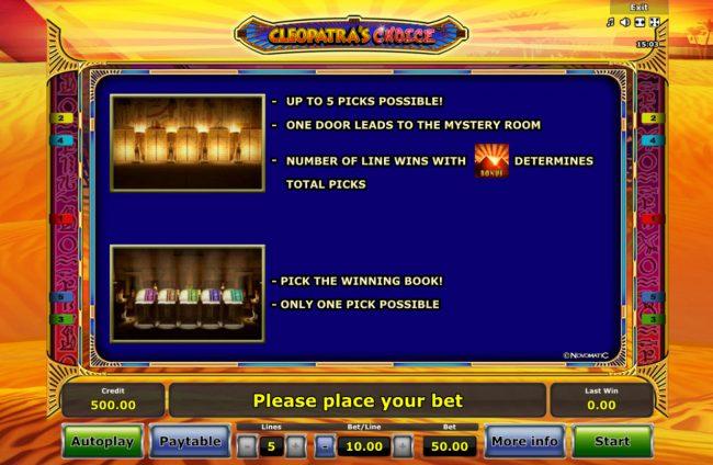 Cleopatra's Choice :: Bonus Game Rules