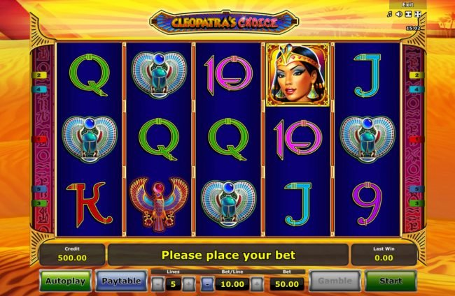Quasar featuring the Video Slots Cleopatra's Choice with a maximum payout of $50,000