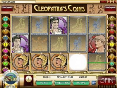 Golden Lion featuring the video-Slots Cleopatra's Coins with a maximum payout of $25,000