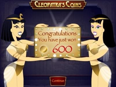 Desert Nights Rival featuring the video-Slots Cleopatra's Coins with a maximum payout of $25,000