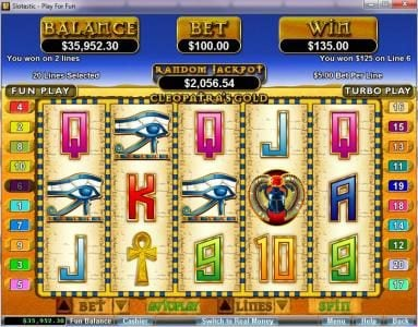 Cool Cat featuring the video-Slots Cleopatra's Gold with a maximum payout of $250,000