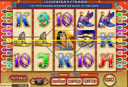 Play slots at Miami Club: Miami Club featuring the Video Slots Cleopatra's Pyramid with a maximum payout of $100,000