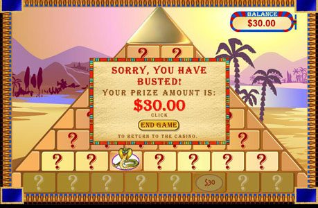 Red Stag featuring the Video Slots Cleopatra's Pyramid with a maximum payout of $100,000