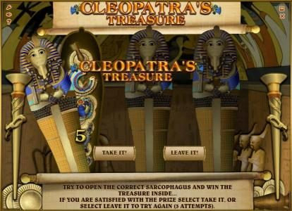 7 Gods Casino featuring the Video Slots Cleopatra's Treasure with a maximum payout of $10,000