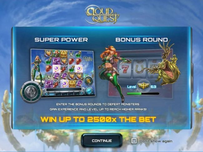 Casino Mate featuring the Video Slots Cloud Quest with a maximum payout of $100,000